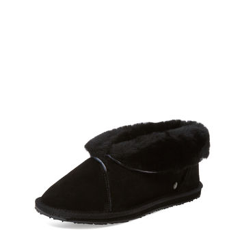 EMU Women's Talinga 14 Sheepskin Slipper - Black -