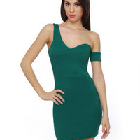 Sexy Teal Dress - Off the Shoulder Dress - Body Con Dress - $35.50