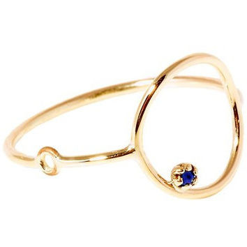 'Stone Bubble' Gold & Sapphire Ring