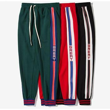"""Great"" Striped Trackpants"