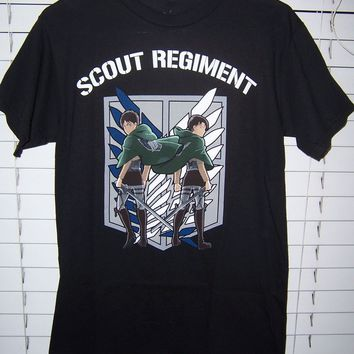 Cool Attack on Titan 2018 Newest Letter Print NWT  Scout Regiment Shirt Adult Size Small T-Shirt Casual Man Tees AT_90_11