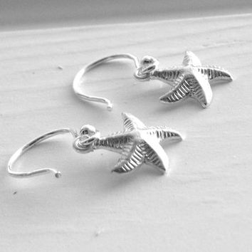Starfish Earrings, Sterling Silver Starfish Earrings, Small Starfish Earrings, Sterling Silver Jewelry, Starfish Jewelry, Starfish, .925