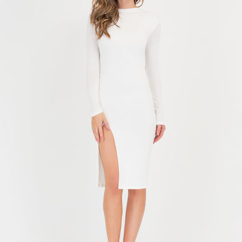 Slit's Bound To Happen Midi Dress