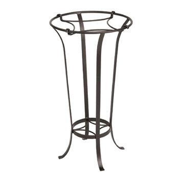 ACHLA Designs FB-20 Wrought Iron Tulip Plant Stand