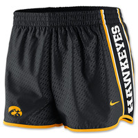 Women's Nike Iowa Hawkeyes College Chainmaille Pacer Shorts
