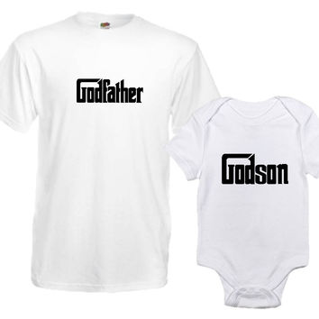 The Godfather And The Godson Matching Parent Child T Shirt