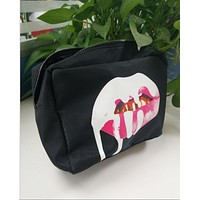 HUDA BEAUTY  Birthday Cosmetic Bag Black Cosmetic Bag
