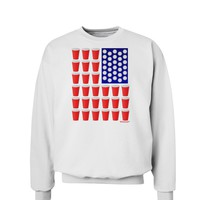Beer Pong Flag Sweatshirt