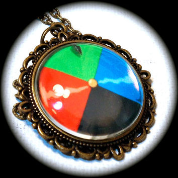 HOWL'S Door DIAL . Glass Pendant Necklace . Howl's Moving Castle . GHIBLI . GirlGameGeek