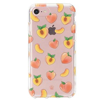 Just Peachy iPhone Clear Case