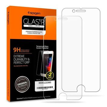 DCK4S2 Spigen iPhone 8 Plus Screen Protector Tempered Glass [ Case Friendly ] 2 Pack for Apple iPhone 8 Plus (2017)