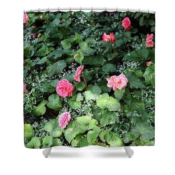 Petals And Lace - Shower Curtain