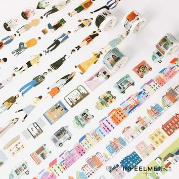 1.5-30*5-7M The good life washi tape DIY decorative scrapbooking masking tape adhesive label sticker tape stationery