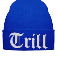 trill  EMBROIDERY,Hat - Beanie Cuffed Knit Cap