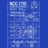 Enterprise NCC-1701 Blueprint Star Trek