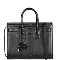 Saint Laurent - Saint Laurent Python-Embossed Satchel - Saks Fifth Avenue Mobile