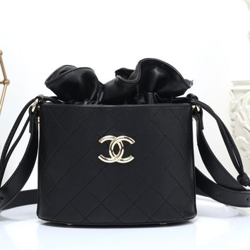 CHANEL Women Fashion Leather Shopping Satchel Shoulder Bag Crossbody