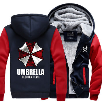 Resident Evil Hoodies Umbrella sweatshirt 2017 spring winter hot sale fleece hoodies men jacket men sportswear fashion men coat