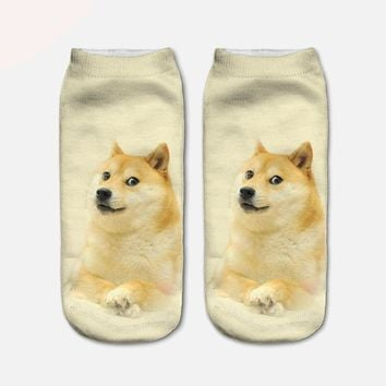 Animal Cute Low Cut Ankle Socks Funny Crazy Cool Novelty Cute Fun Funky Colorful