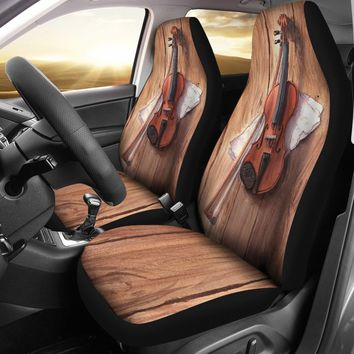 Wooden Violin Car Seat Covers