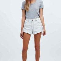 Urban Renewal Vintage Customised Bleached Raw-Cut Levi Shorts - Urban Outfitters