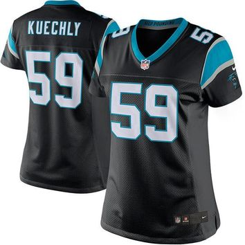 Women's Carolina Panthers Luke Kuechly Nike Black Limited Jersey