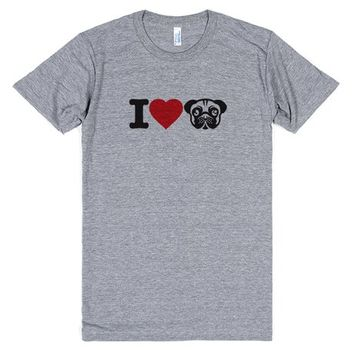 I Love Pugs Dog Lover's Tee