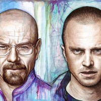 """Breaking Bad - Walter And Jesse"" - Art Print by Olga Shvartsur"