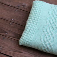Knit cable pillow case for home decor