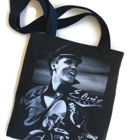 Elvis Bag Upcycled T-shirt Tote