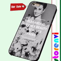 AUDREY HEPBURN ELEGANCE BEAUTY FASHION QUOTE custom case for smartphone case