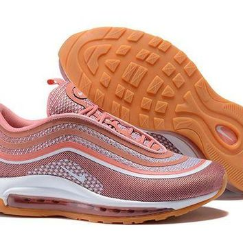 DCCKL8A Jacklish Girls Nike Air Max 97 Ultra 17 Metallic Rose Gold/gum Light Brown For Sale