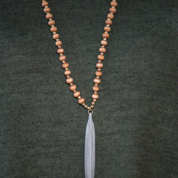 Boho You Didn't Necklace, Gray