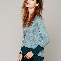 Free People Womens We The Free Huntington Hacci - Dark Emerald S