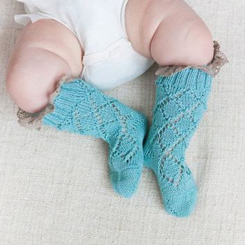 Winter Children Warm Socks Knitted Socks Toddler Baby Boys Girls Long Knee Socks