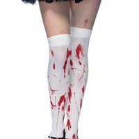Bloody Zombie Thigh High Tights