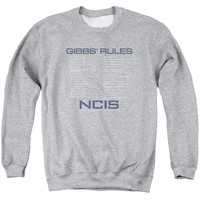NCIS/GIBBS RULES - ADULT CREWNECK SWEATSHIRT - ATHLETIC HEATHER -
