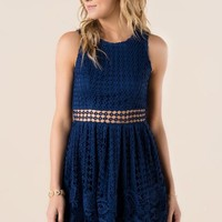 Myra Crochet Cut Out Dress