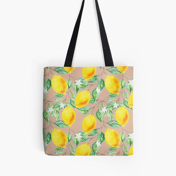 'Lemon Fresh #redbubble #decor #buyart' Tote Bag by Uma Gokhale