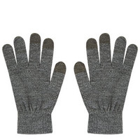 Knitted Touch Screen Gloves - Grey