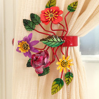 Bright Botanical Curtain Tie-Back