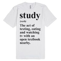 Study Definition-Unisex White T-Shirt
