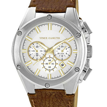 Vince Camuto Mens Oversized Stainless Steel Watch