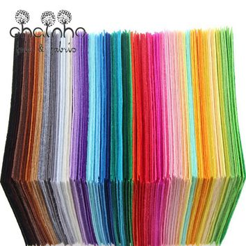 Non Woven Felt Fabric 1mm Thickness Polyester Cloth Felts Of Home Decoration Pattern Bundle For Sewing Dolls Crafts 40pcs15x15cm