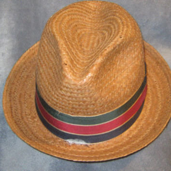 Vintage Dobbs Fifth Avenue New York Cocoanut Fedora hat or City Hat - 6 7/8 - Made in USA