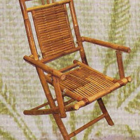 "Set of 2 Folding Bamboo Chairs (Bamboo) (19""W x 30""H)"