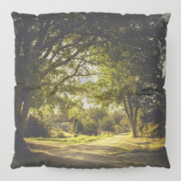 On the road again Floor Pillow by HappyMelvin