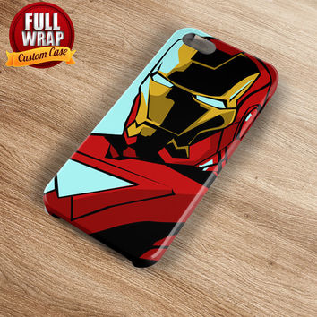 Iron Man Figure 2 Full Wrap Phone Case For iPhone, iPod, Samsung, Sony, HTC, Nexus, LG, and Blackberry