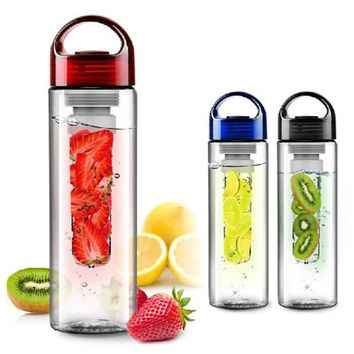 700ml Fruit Juice Glass Infuser Sport Drinking Water Bottle