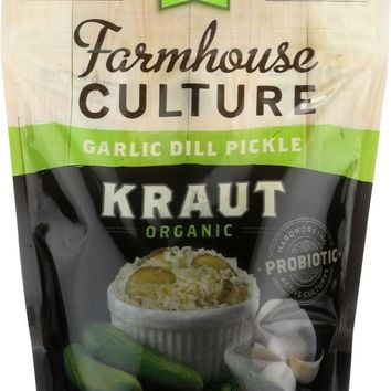FARMHOUSE CULTURE: Organic Garlic Dill Pickle Kraut, 16 oz